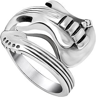Mens Spoon Rings, Biker Ring Stainless Steel, Size 7-12