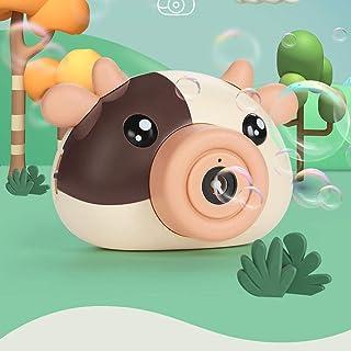 RFSTGYU Bubble Machine,Electric Bubble Machine Toy Bubble Machine For Kids Boys Girls Toy,Cartoon Cute Cow Blowing Bubble ...