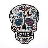 HMQD Sequins 19x25cm West Coast Style Skull...