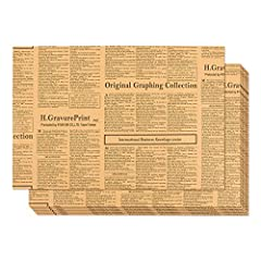 NEWSPAPER THEMED WRAPPING PAPER SHEETS: Pack, wrap, decorate, cover and design with these versatile sheets of kraft paper. Not too thick and not too thin, it's the perfect thickness to fold and manipulate. PRINTED ON BOTH SIDES & UNCOATED: Perfect fo...