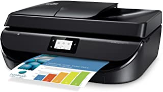 HP OfficeJet 5255 All-in-One Printer with Mobile Printing, Instant Ink Ready - Black (Renewed)