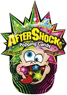 After Shocks Popping Candy Assorted Flavors 1.06 Ounce Bags (Pack of 16)