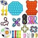 22-26 Piezas Sensory Fidget Toys, Juego de Juguetes sensoriales, Juego De Juguetes Sensoriales Fidget Toys Set Alivia El Estrés TDAH Adicción Y La Ansiedad Fidget Toy para Adultos, Niños