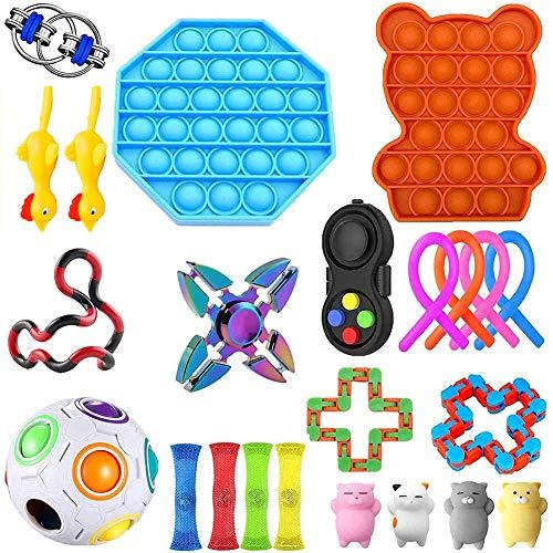 LICHENGTAI Fidget Toy Set, 23 Pcs Sensory Toys Set für Autismus, Fidget Toys Pack,Stress Relief Toy Set,Fidget Toy Stressabbau Spielzeug,Antistress Spielzeug Für Kinder Erwachsene
