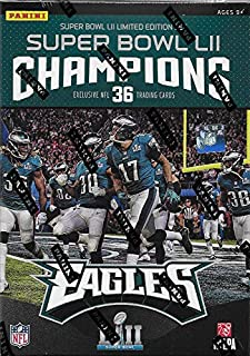 Philadelphia Eagles 2018 Panini Factory Sealed Super Bowl LII Champions Limited Edition Factory Sealed 36 Card Set with Nick Foles, Carson Wentz, Fletcher Cox, Chris Long plus