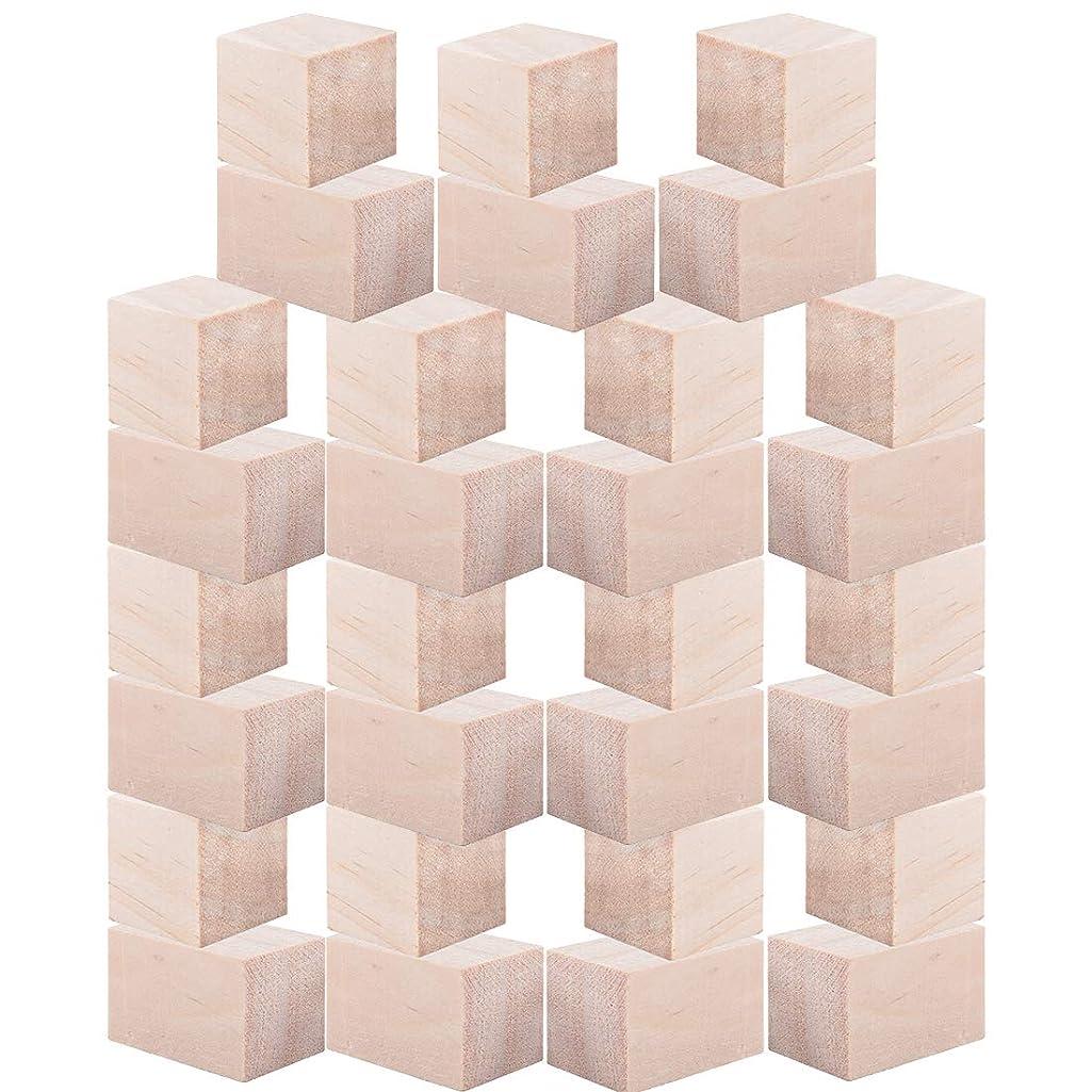 Tosnail 30 Pack Pine Wood Blocks Craft Wood Kit - 2 Size