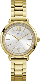 Guess ladies posh Womens Analog Quartz Watch with Stainless Steel Gold Plated bracelet W1231L2