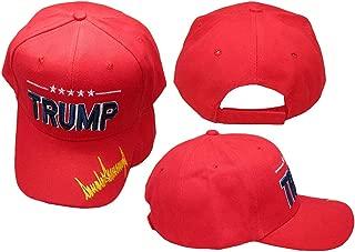 Trump Signature Signed Red 100% Cotton Embroidered Hat Cap