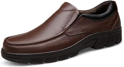 Fuxitoggo Chaussures à Lacets Confortables Confortables pour Hommes avec Bout Rond et Marron Souple UK 6.5 (Couleuré   -, Taille   -)  meilleure réputation