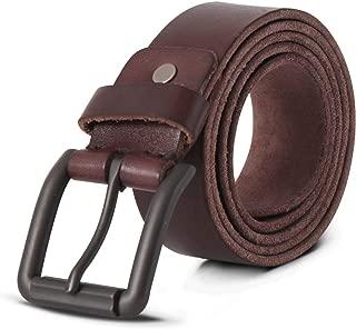 Mens Belt LegendBelt's Genuine Leather Belt Classic Casual Belt Jean and Dress Belt Trim to Fit 1.4 Inch Wide