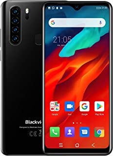 Blackview A80 Pro SIMフリースマートフォンAndroid 9.0(2020新品)、6.49インチHD+ スクリーン、内蔵ウォータードロップスクリーン携帯電話、Helio P25 8コア4GB + 64GB格安スマホ、4680mAh大型バッテリー4Gスマートフォン、13MPクアッドカメラ、デュアルSIM 指紋認証 顔認証 au不可 技適認証済み 1年間保証付き