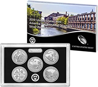 2019 S United States Mint America the Beautiful Quarters Silver Proof Set Mint Packaged