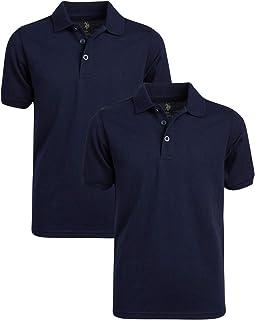 Boys' School Uniform Shirt - Pique Short Sleeve Polo...
