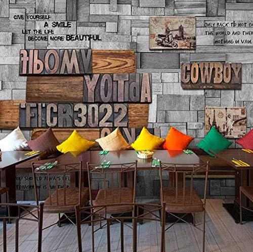 Zbzmm Wall Art 3D Schilderij Fotobehang voor Muren Woonkamer Decor Letter Muren_300cm(w) x200cm(h)(9'10