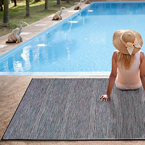 UNIVERSAL Alfombra Indoor-Outdoor Bliss Degraded, 100% Polipropileno, Azul, 130 x 190 cm