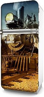 comprar comparacion Lámina adhesiva para el frigorífico, diseño de locomotora en varios tamaños, para la nevera, decoración de la cocina, lámi...