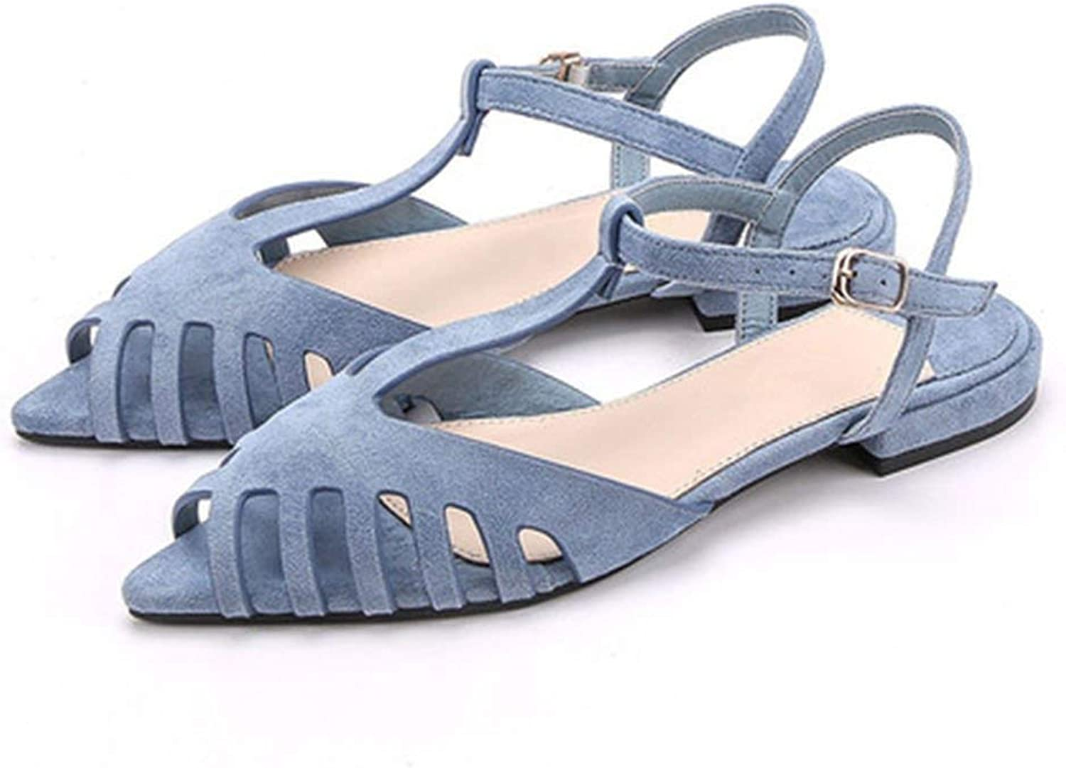 Dream-Cabin Flat Sandals Women Pointed Toe Summer Beach Sandals Women Soft Solid Sandals shoes