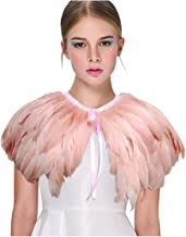 pink feather necklace