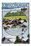 Chincoteague, Virginia - Scenes 33482 (19x27 Premium 1000 Piece Jigsaw Puzzle for Adults, Made in USA!)