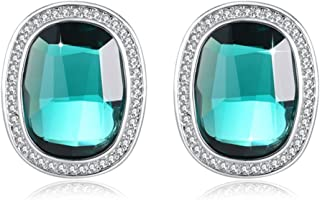 Earrings For Woman PLATO H Created Sapphire Stud Earrings Fashion Jewelry Classic luxury Earring Mothers Day Birthday Gifts, Purple/Ocean Blue
