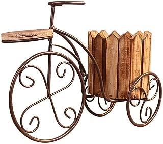 Trike FIORIERA ESTERNO GIARDINO Ornamento Metallo Bianco Shabby Chic Stile Bicicletta