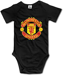 Manchester United Unisex Baby Jumpsuit Short-Sleeve Cotton Bodysuits