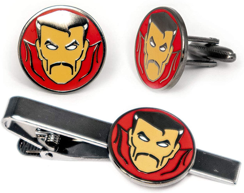 Doctor Strange Cufflinks, Marvel Avengers Dr Strange Tie Clip, Iron Man Jewelry, Ironman Tie Tack Geek Gifts, Minimalist Superhero Captain America Cuff Links Wedding Party Groomsmen Gift