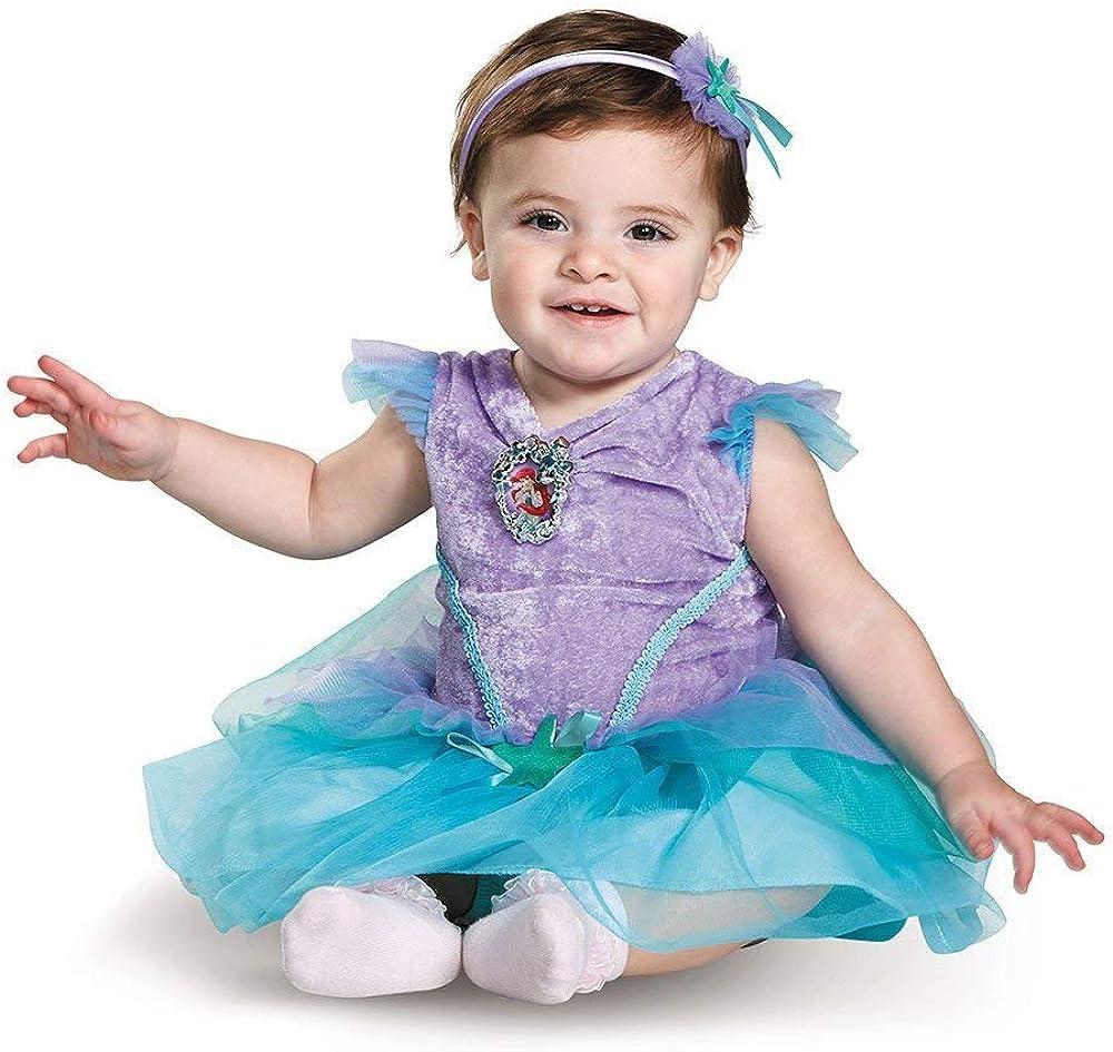 Princess Little Mermaid Dress Costume for Baby Toddler Girl