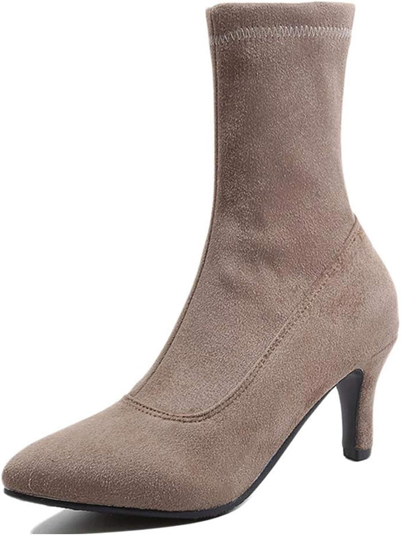 Sam bille kvinnor stövlar, stövlar, stövlar, mode Warm Elastisk Stretchy Sock Thin Heel Peent Toe Boot  bästsäljare
