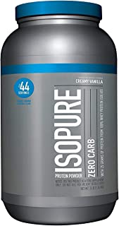 Isopure Zero Carb Protein Powder, 100% Whey Protein Isolate, Keto Friendly, Flavor: Creamy Vanilla, 3 lb