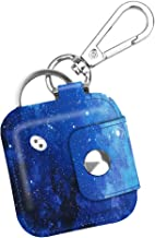 Fintie Case with Carabiner Keychain for Tile Mate, Tile Pro, Tile Sport, Tile Style Key Finder Phone Finder, Anti-Scratch Vegan Leather Protective Skin Cover with Speaker Cutout, Starry Sky