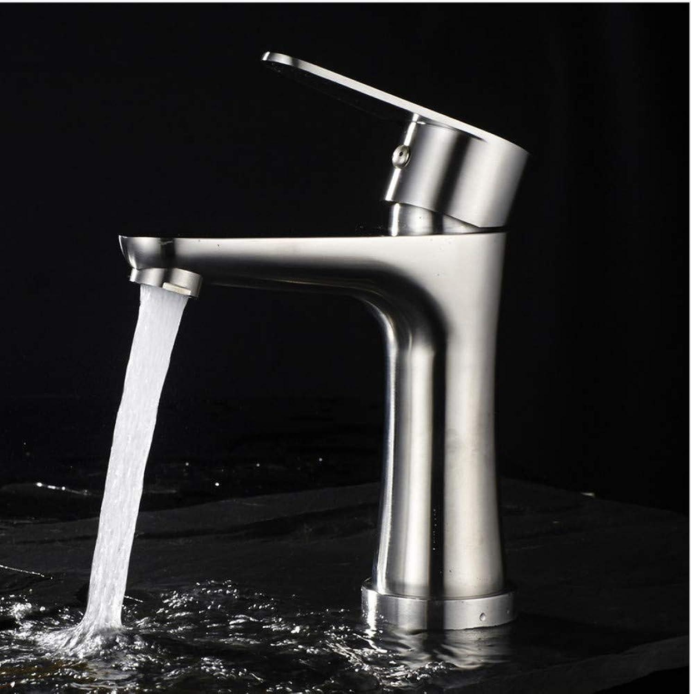 Dwthh Edelstahl Waschbecken Wasserhahn Einlochmontage Nickel Gebürstet Nickel Becken Waschbecken Heien Und Kalten Wasser Mischbatterie