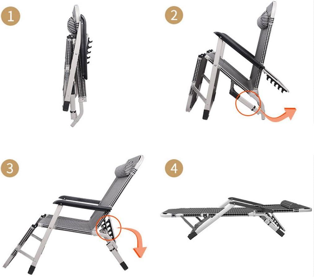 XIAO Fauteuil Pliage Lounge Chair Déjeuner Pause Recliners Multifonction Dossier Paresseux Ménage Siesta Chaise Pour Bureau Plage ^ # ^ (Color : A) B