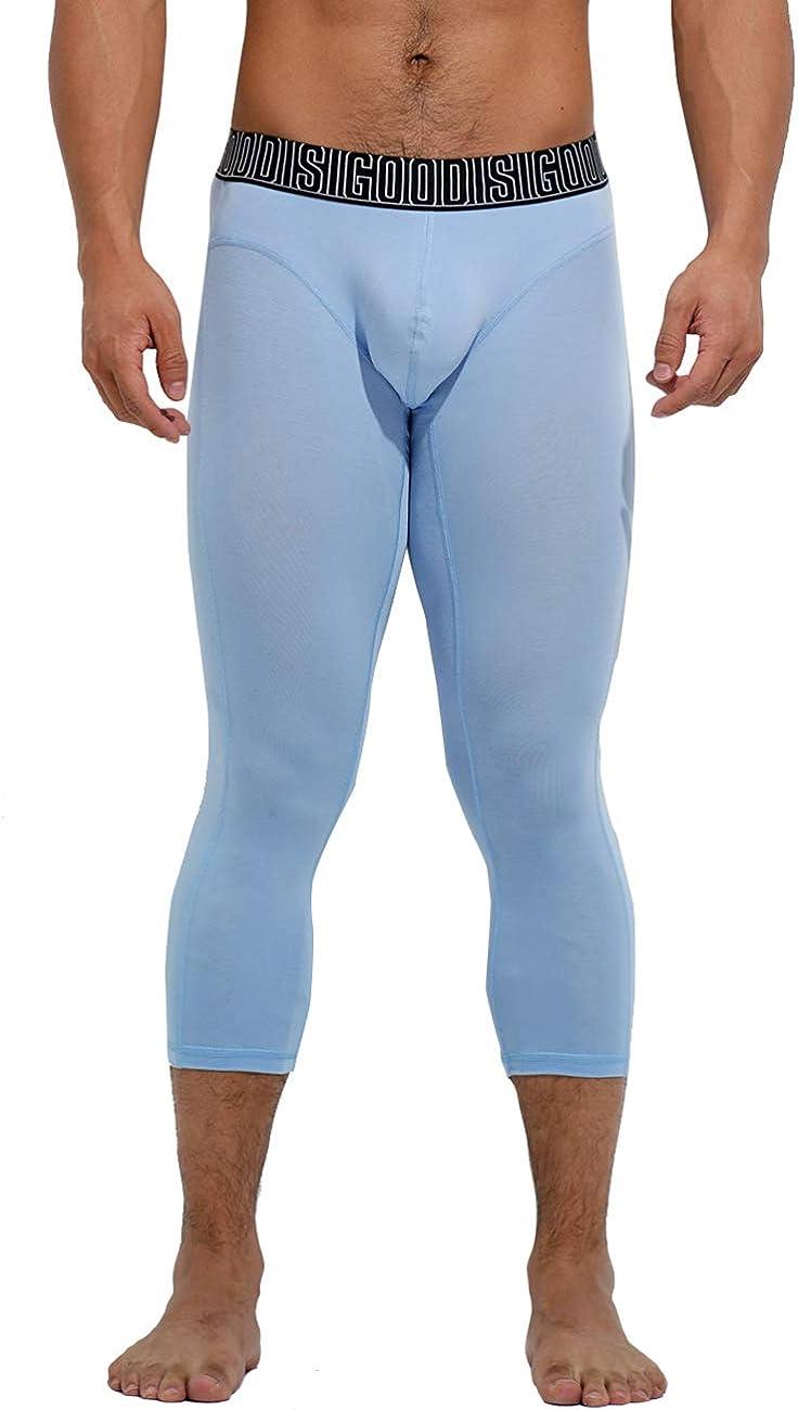DESMIIT Men's U-Pouch Modal Seven-Tenths Long Johns Thin Underwear