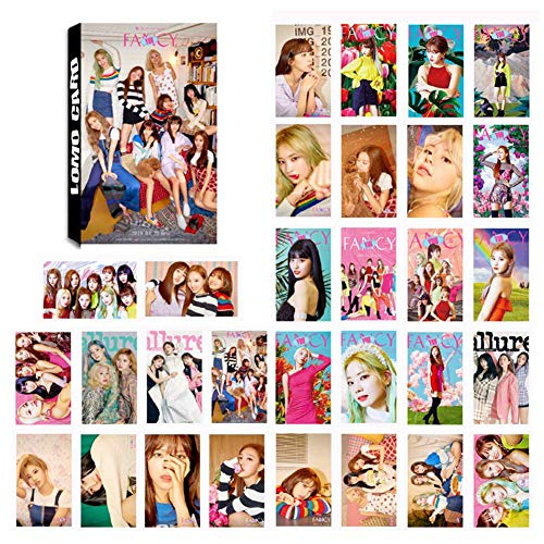 GOTH Perhk Kpop TWICE [ Fancy You ]& [ SUMMER NIGHTS ] Photo Postcard Support Lomo Cards Set New Album Collective Photocard Poster Gift for FANS, 30PCS(1.TWICE)