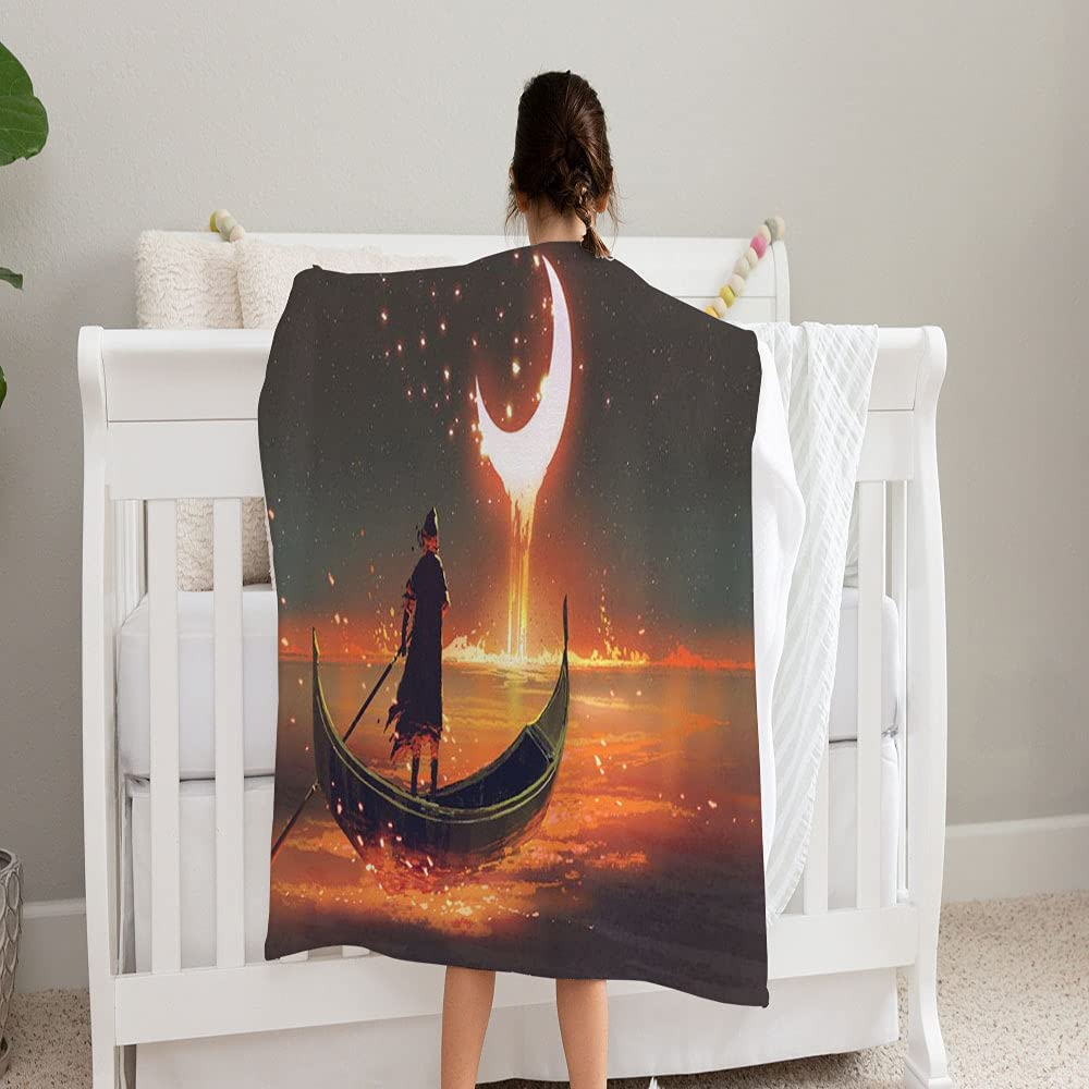 Same day shipping LPVLUX Surreal 25% OFF Concept Man Rowing Blanket Glowing Super Boat So