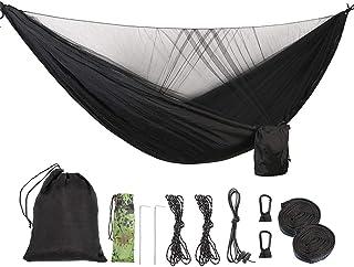 ValueHall Camping Hammock with Mosquito Net Lightweight Double Hammock Portable Hammocks Parachute Nylon Hammock for Indoo...