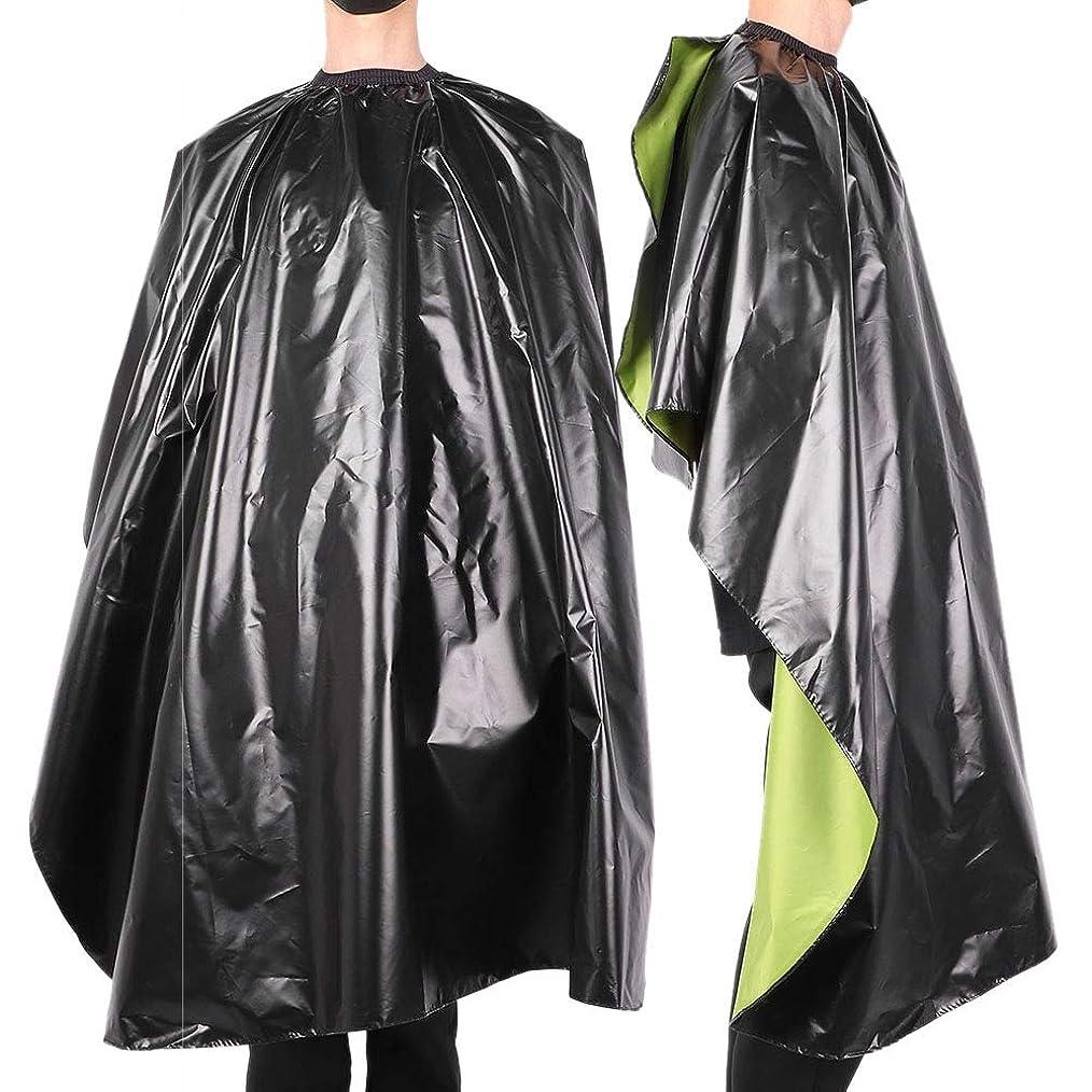 休暇起きろ滑る防水 調整可能 サロン 散髪 ヘアスタイリングケープ-ガ ウン大人の理髪理髪師 ラップエプロン