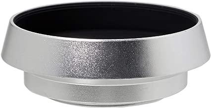 Fotasy 37mm Silver Metal Vented Curved Lens Hood, 37mm Lens Hood for Canon Fuji Leica Leitz Nikon Olympus Panasonic Pentax Sony Lens, 37mm Silver Screw-in Lens Hood
