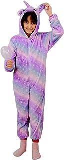 Kids Girls Unicorn A2Z Onesie One Piece Soft Fluffy Galaxy Print Xmas Costume