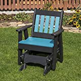 Ecommersify Inc Aruba Blue-Poly Lumber Mission 2 Feet Glider Everlasting - Made in USA - Amish Crafted