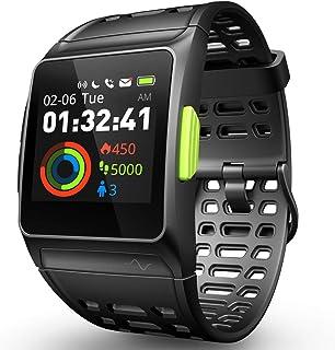 Reloj Inteligente Rastreador de Ejercicios, GPS Reloj Deportivo ECG/Fatiga/Dormir/Monitor de Ritmo Cardíaco IP68 Smart Wat...