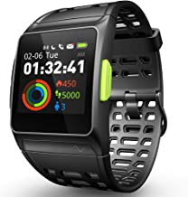 DR.VIVA GPS Running Watch, Smart Watch Heart Rate/Sleep/Pedometer/ECG Monitor Fitness Tracker with Multi-Sports Mode Message Notifications Color Touch Screen Smartwatch for Android and iOS