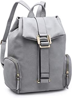 Fashion women PU Leather Durable Laptop Backpack for Travel School Causal