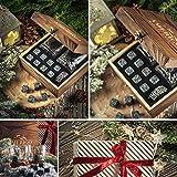Deluxe Whisky Steine Geschenkset - Sei anders bei der Geschenkauswahl - Luxus Handgemachte Holzkiste mit 2 Whiskey Gläsern - 8 Granit Kühlsteine + Samtbeutel - Whisky Stones Gift Set - 4