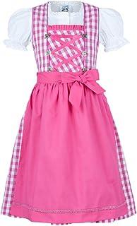 Isar-Trachten Isartrachten Babydirndl Kinderdirndl Jugenddirndl Mädchendirndl pink 3-TLG mit Bluse