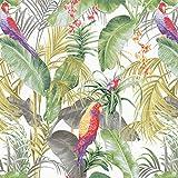 Carta da Parati Verde Tropicale Foglia di Banana Carta da Parati Arte Moderna Fiori E Uccelli Carta da Parati in Stile Cinese Rotolo Decorazione Murale Adesivo Murale