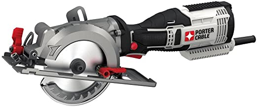 PORTER-CABLE 4-1/2-Inch Circular Saw, Compact, 5.5-Amp (PCE381K)