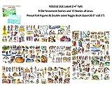 Toggle Sized 22 Old & New Testament Bible Stories Set Precut Felt Figures & Flannel Board Book Story Jesus Abraham Daniel David Job Jonah Joseph Moses Ruth Noah (adult figures 2-4' tall)