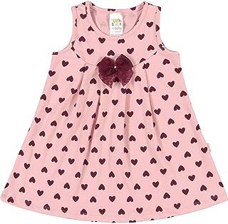 Vestidos Rotativo Rosa Chá Bebê Menina Cotton Ref:37502-868